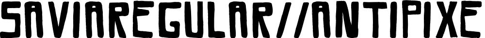 Preview image for SaviaRegular//ANTIPIXEL.COM.AR Font