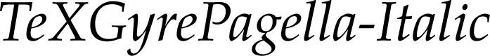 Preview image for TeXGyrePagella-Italic