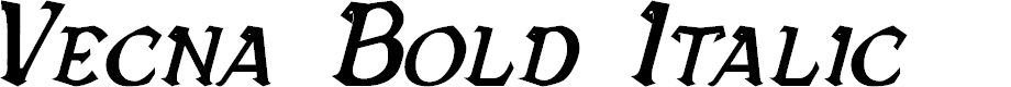 Preview image for Vecna Bold Italic