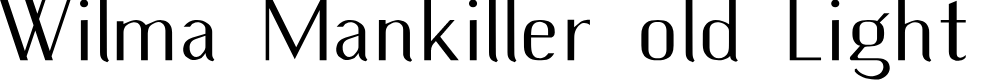 Preview image for Wilma Mankiller old Light SemiCondensed Font