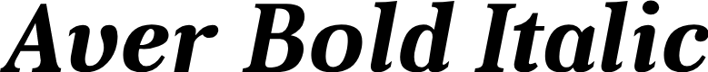 Preview image for Aver Bold Italic