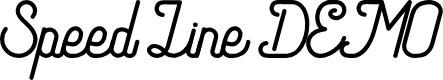 Preview image for Speed Line DEMO Font