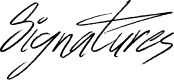Preview image for Signatures Font
