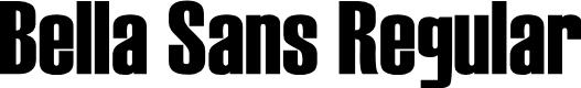 Preview image for Bella Sans Regular Font