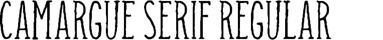 Preview image for Camargue Serif Regular Font