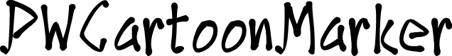 Preview image for PWCartoonMarker Font