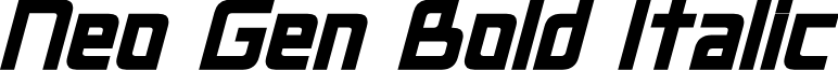 Neo Gen Bold Italic