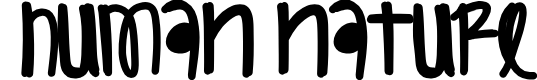 Preview image for HumanNature Font