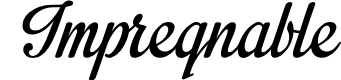 Preview image for Impregnable Personal Use Only Font
