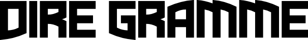 Preview image for Dire Gramme Font