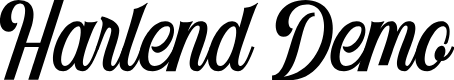Preview image for Harlend Demo Font