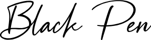 Preview image for Black Pen Font