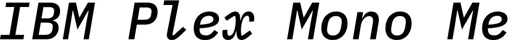 Preview image for IBM Plex Mono Medium Italic