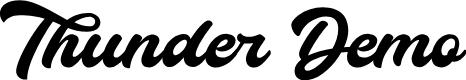 Preview image for Thunder Demo Font