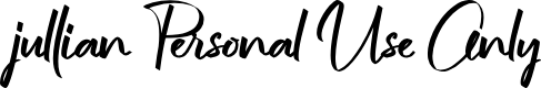 Preview image for jullian Personal Use Only Font
