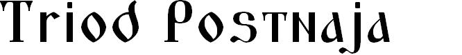 Preview image for Triod Postnaja Font