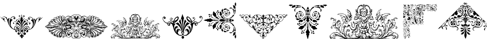 Preview image for Victorian Free Ornaments Font
