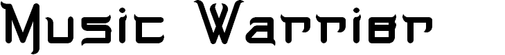 Preview image for Music Warrior Font