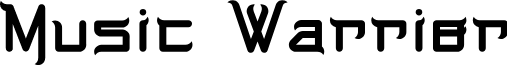 Music Warrior font