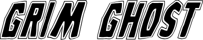 Preview image for Grim Ghost College Italic