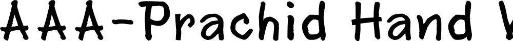 Preview image for AAA-Prachid Hand Written Font