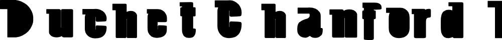 Preview image for Duchet Chanford Bold Font