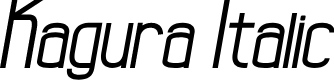 Preview image for Kagura Italic