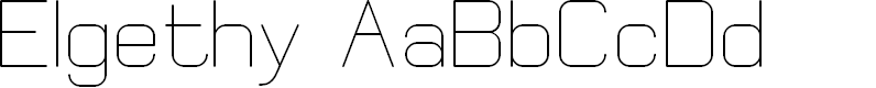 Preview image for Elgethy Font