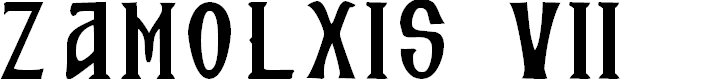 Preview image for Zamolxis VII Font