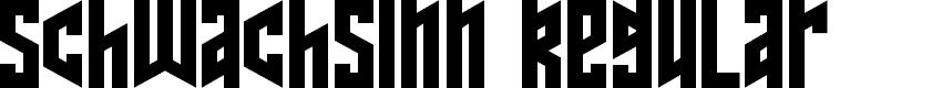 Preview image for Schwachsinn Regular Font