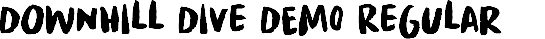 Preview image for Downhill Dive DEMO Regular Font