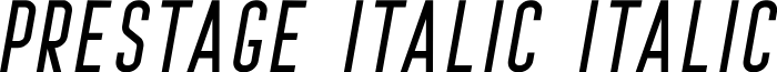 Prestage Italic Italic font
