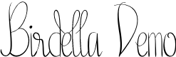 Preview image for Birdella Demo Font
