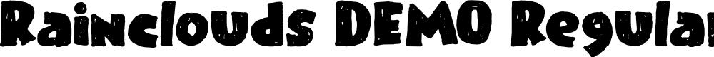 Preview image for Rainclouds DEMO Regular Font