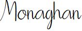 Monaghan font