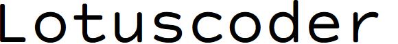 Lotuscoder font