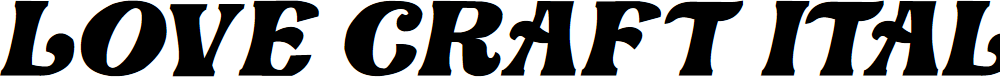 Preview image for Love Craft Italic Font