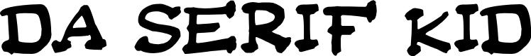 Preview image for Da Serif Kid Font