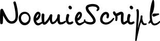 Preview image for NoemieScript Font