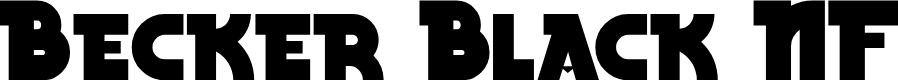 Preview image for BeckerBlackNF Regular Font