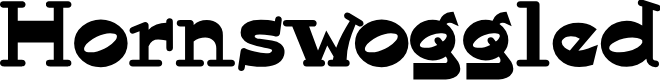 Preview image for Hornswoggled Font