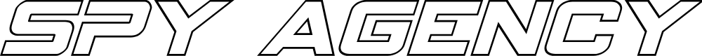 Preview image for Spy Agency Outline Italic