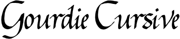 Preview image for Gourdie Cursive Font