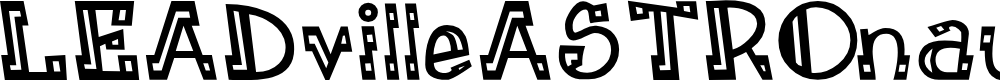 Preview image for LEADvilleASTROnaut Inline Font