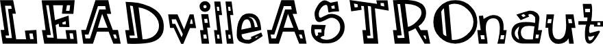 LEADvilleASTROnaut Inline font