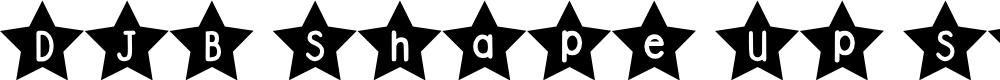 Preview image for DJB Shape Up Stars Font