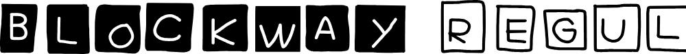 Preview image for Blockway Regular Font