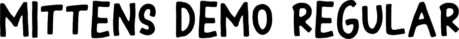 Preview image for Mittens DEMO Regular Font