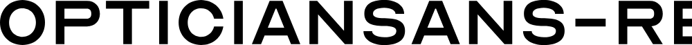 OpticianSans-Regular font