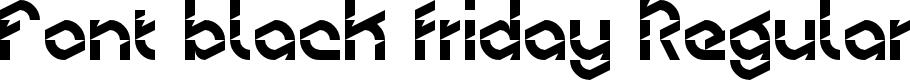 Preview image for Font black friday Regular Font